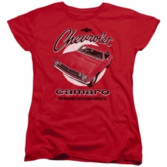 Chevy Womens Shirt Retro Camaro Red T-Shirt