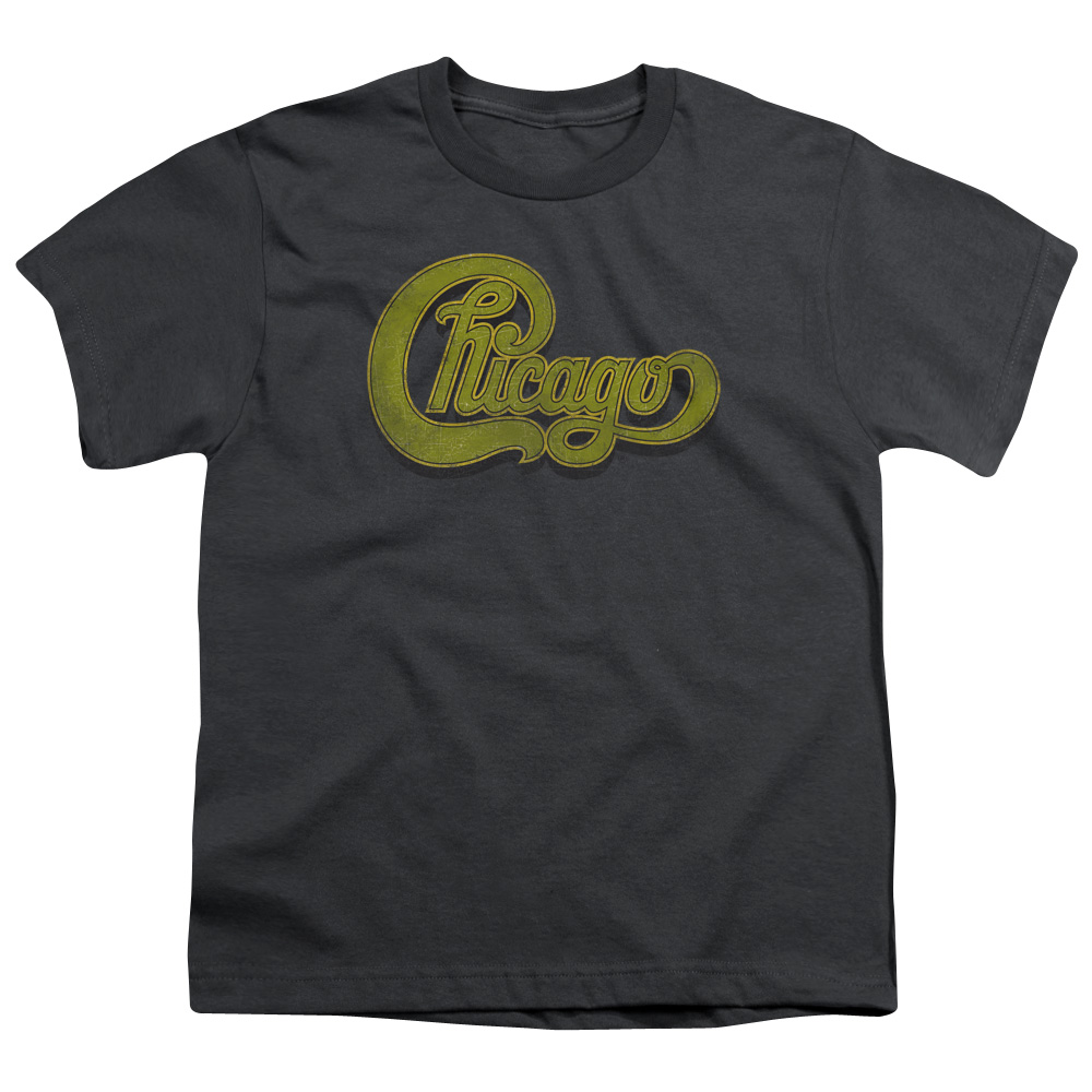 Chicago Shirt Kids Distressed Logo Charcoal T Shirt
