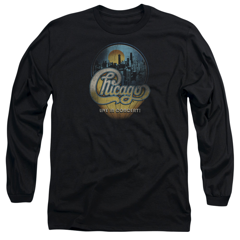Chicago Shirt Live Long Sleeve Black Tee T Shirt Chicago