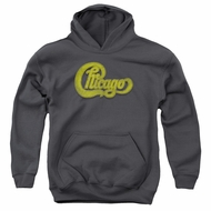 Chicago Youth Hoodie Distressed Logo Charcoal Kids Hoody