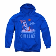 Chilly Willy Hoodie Sweatshirt Chillax Royal Blue Adult Hoody Sweat Shirt