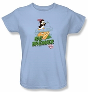 Chilly Willy Ladies T-shirt TV Show Ice Breaker Light Blue Tee Shirt