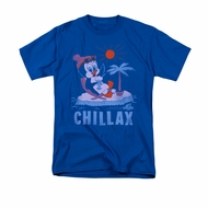 Chilly Willy Shirt Chillax Adult Royal Blue Tee T-Shirt