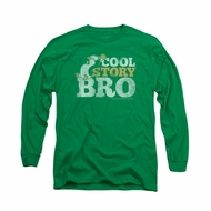 Chilly Willy Shirt Cool Story Long Sleeve Kelly Green Tee T-Shirt