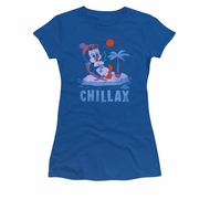 Chilly Willy Shirt Juniors Chillax Royal Blue Tee T-Shirt