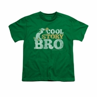 Chilly Willy Shirt Kids Cool Story Kelly Green Youth Tee T-Shirt