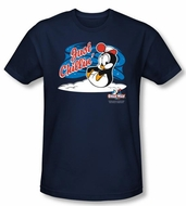 Chilly Willy Slim Fit T-shirt TV Show Just Chillin Adult Navy Shirt