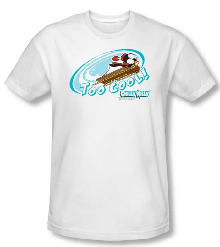 Chilly Willy T Shirt Tv Show Too Cool White Slim Fit Tee