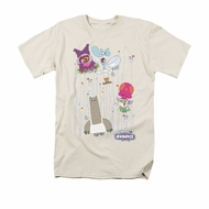 Chowder Shirt Dots Collage Adult Cream Tee T-Shirt