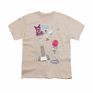 Chowder Shirt Dots Collage Kids Cream Youth Tee T-Shirt