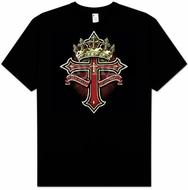 Christian T-shirt NO CROSS NO CROWN Inspirational Adult Tee Shirt