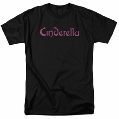 Cinderella Shirt Scratched Logo Black T-Shirt