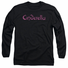 Cinderella Shirt Scratched Logo Long Sleeve Black Tee T-Shirt