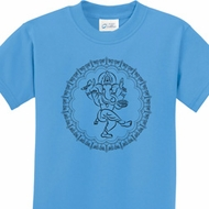 Circle Ganesha Black Print Kids Shirts