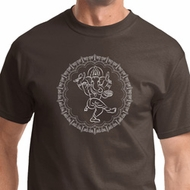 Circle Ganesha White Print Mens Shirts