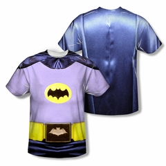 Classic Batman Shirt Batman Costume Sublimation Shirt Front/Back Print