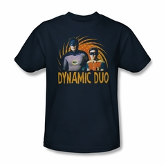 Classic Batman Shirt Dynamic Duo Navy T-Shirt