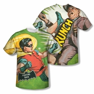 Classic Batman Shirt Fighting Back Sublimation Shirt Front/Back Print