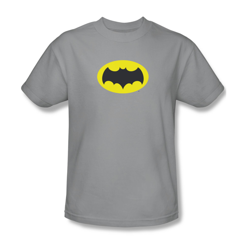 classic batman shirt logo silver t shirt classic batman. Black Bedroom Furniture Sets. Home Design Ideas