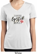 Coffee Lipstick Repeat Ladies Moisture Wicking V-neck Shirt