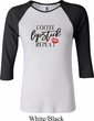 Coffee Lipstick Repeat Ladies Raglan Shirt