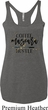 Coffee Mascara Hustle Ladies Tri Blend Racerback Tank Top
