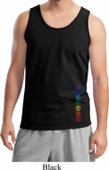 Colored Chakras Bottom Print Mens Yoga Shirts