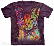 Colorful Cat Shirt Tie Dye Adult T-Shirt Tee