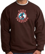 COME TOGETHER World Peace Sign Symbol Adult Sweatshirt - Brown