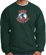 COME TOGETHER World Peace Sign Symbol Adult Sweatshirt - Dark Green