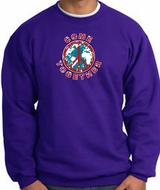COME TOGETHER World Peace Sign Symbol Adult Sweatshirt - Purple