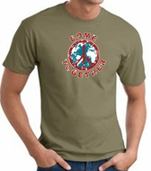 COME TOGETHER World Peace Sign Symbol Adult T-shirt - Army Green