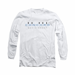 Concord Music Group Shirt Logo Long Sleeve White Tee T-Shirt