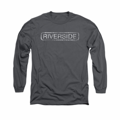 Concord Music Group Shirt Riverside Long Sleeve Charcoal Tee T-Shirt