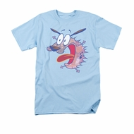 Courage The Cowardly Dog Shirt Evil Inside Adult Light Blue Tee T-Shirt