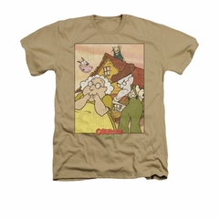 Courage The Cowardly Dog Shirt Gothic Courage Adult Heather Sand Tee T-Shirt