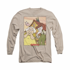 Courage The Cowardly Dog Shirt Gothic Courage Long Sleeve Sand Tee T-Shirt
