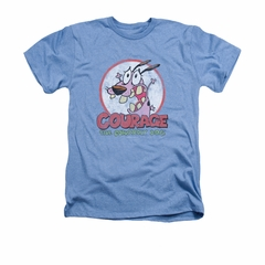 Courage The Cowardly Dog Shirt Vintage Courage Adult Heather Light Blue Tee T-Shirt