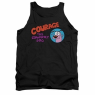 Courage The Cowardly Dog Tank Top Courage Logo Black Tanktop