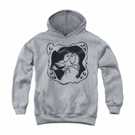 Courage The Cowardly Dog Youth Hoodie Ghost Frame Athletic Heather Kids Hoody