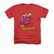 Cow & Chicken Shirt Al Rescate Adult Heather Red Tee T-Shirt