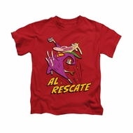 Cow & Chicken Shirt Kids Al Rescate Red Youth Tee T-Shirt