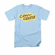 Cow & Chicken Shirt Logo Adult Light Blue Tee T-Shirt