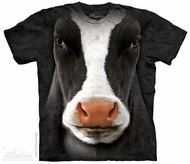 Cow Face Shirt Tie Dye Adult T- Shirt Tee