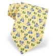 Crabs Bubbles Silk Tie Necktie - Men's Animal Print Yellow Neck Tie