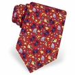 Crabs Seashells Red Silk Tie Necktie - Men's Animal Print Neck Tie