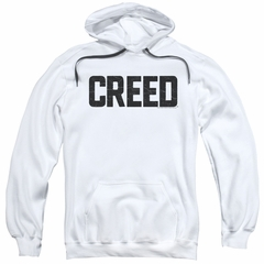 Creed Hoodie Cracked Logo White Sweatshirt Hoody