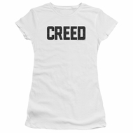Creed Juniors Shirt Cracked Logo White T-Shirt