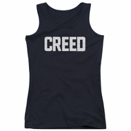 Creed Juniors Tank Top Cracked Logo Poster Black Tanktop