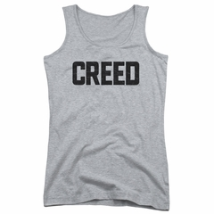 Creed Juniors Tank Top Cracked Movie Logo Athletic Heather Tanktop